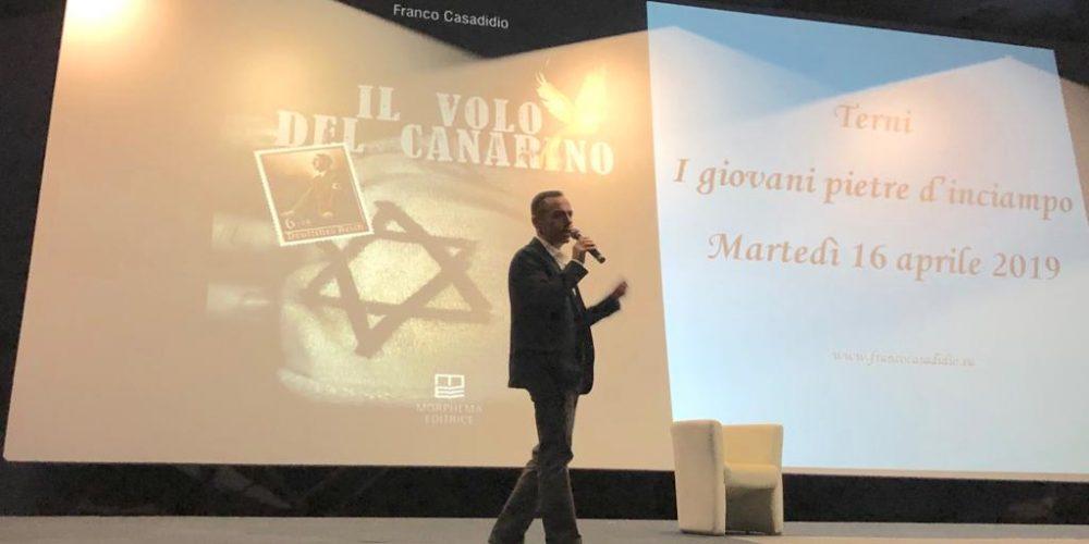 """I giovani pietre d'inciampo – Organizzato dal Liceo Artistico """"O. Metelli"""" Terni, 16 aprile 2019"""